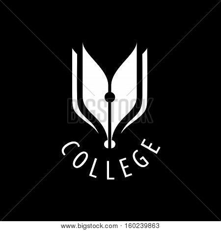 College logo design template. Vector illustration of icon stock photo