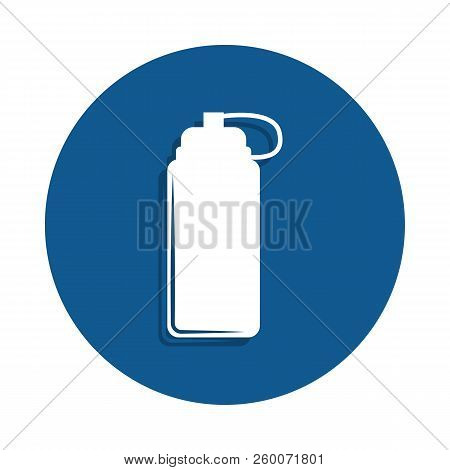a bottle for sports icon in badge style. One of sport collection icon can be used for UI, UX stock photo