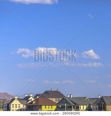 Homes in Daybreak Utah underneath a vast sky stock photo