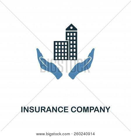 Insurance Company icon in two color design. Line style icon from insurance icon collection. UI and UX. Pixel perfect premium insurance company icon. For web design, apps, software and printing. stock photo