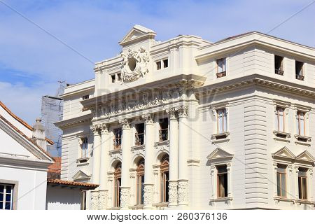 Sao Paulo, Brazil - Department of Justice. Court house building. stock photo
