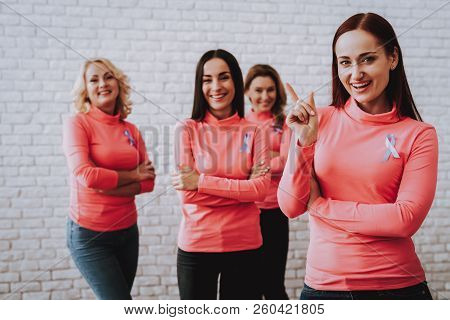 Girl Happy Time Together. Health and Joiful Girl. Smiling Day with Family. Strong Time with Girl. Woman Support World. Pink Blouse Care Together. Smile Makeup with Friends. Woman and Guidelines People stock photo