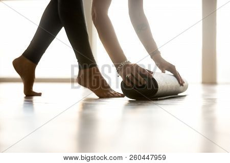 Fitness activity, mindful life, healthy hobby, well being concep stock photo