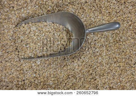 Oatmeal. Background of oatmeal. Texture of oatmeal. stock photo