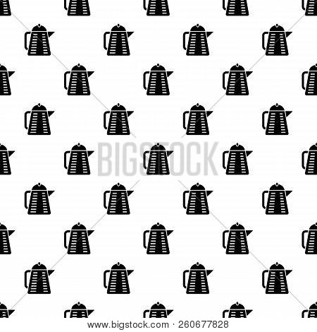 Closed teapot icon. Simple illustration of closed teapot vector icon for web stock photo