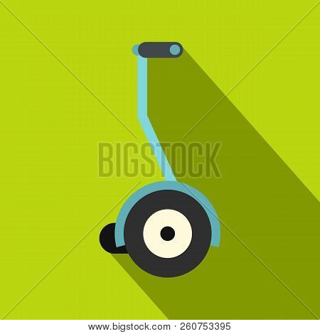 Segway icon. Flat illustration of segway icon for web isolated on lime background stock photo