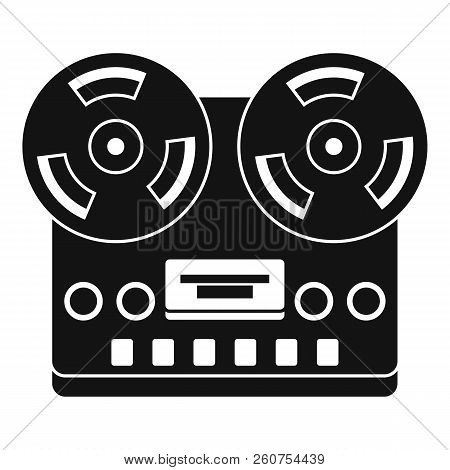 Retro tape recorder icon. Simple illustration of retro tape recorder icon for web stock photo