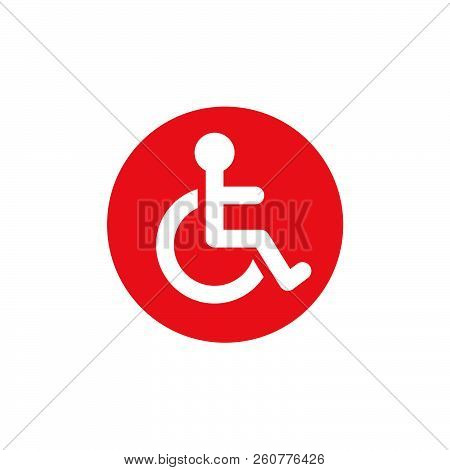 Invalid carriage flat vector icon. Invalid flat vector sign stock photo