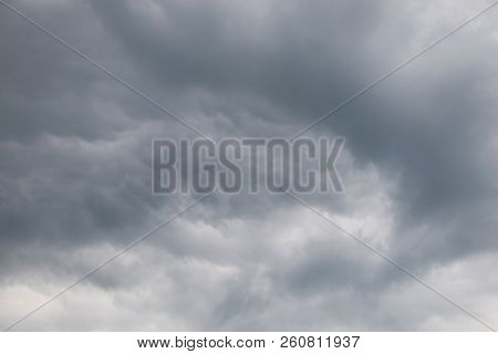dark clouds at the sky before the rain is coming stock photo