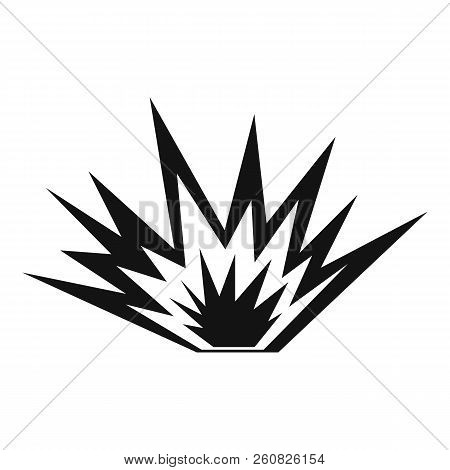 Nuclear explosion icon. Simple illustration of nuclear explosion icon for web stock photo