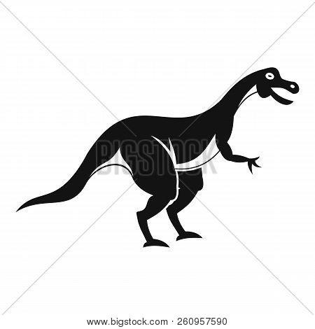 Theropod dinosaur icon. Simple illustration of theropod dinosaur icon for web stock photo