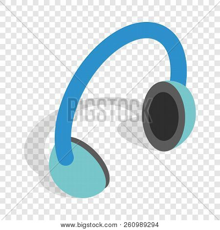 Headphones isometric icon 3d on a transparent background illustration stock photo