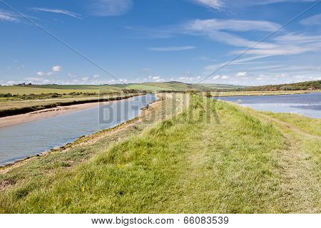 Seven Sisters National Park, Cuckmere River And Country Walks, East Sussex, England stock photo