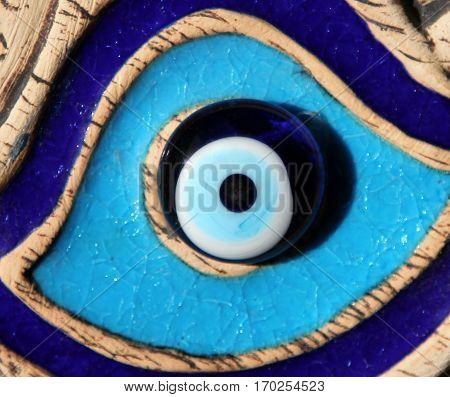 Nazar boncuk (evil eye) - famous turkish amulet stock photo