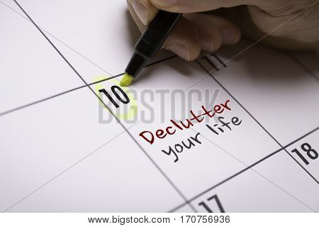 Declutter Your Life stock photo