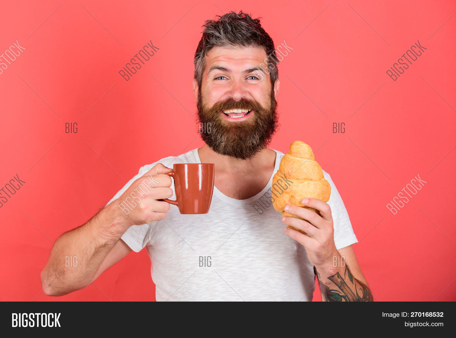 adult,attractive,background,beard,bearded,beginning,beverage,breakfast,caucasian,coffee,concept,croissant,cup,day,diet,dieting,drink,eat,enjoy,every,face,first,food,fresh,gastronomic,guy,handsome,happy,health,healthy,hipster,hold,macho,man,morning,mug,mustache,nutrition,pleasant,pleasure,red,relax,sip,start,tea,tradition,unshaven