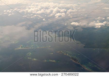Archipelago San Blas at the northern coast of Panama stock photo