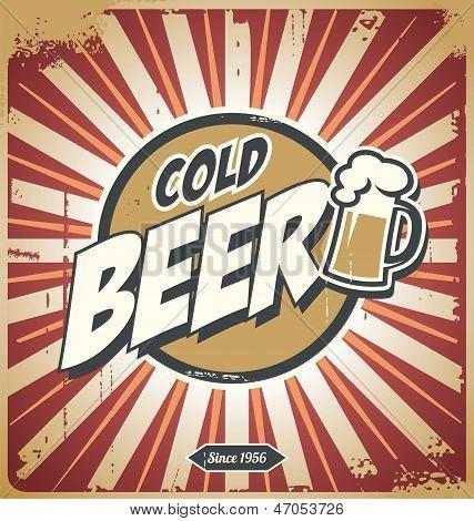 Affiche vintage de bière