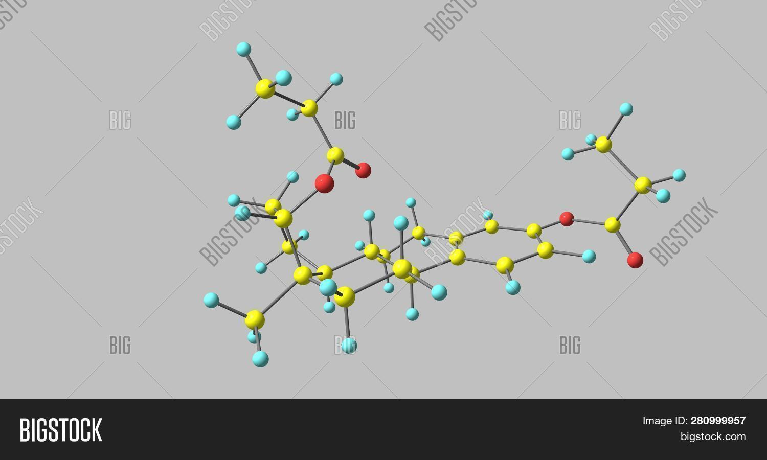 Estradiol dipropionate is an estrogen medication which has been used in the United States. It is given by injection into muscle. 3d illustration