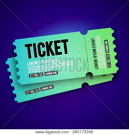 Vector Illustration Colorful Vip Entry Pass Ticket Stub Design Template For Party, Festival, Concert