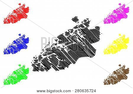 More og Romsdal (Administrative divisions of Norway, Kingdom of Norway) map vector illustration, scribble sketch More and Romsdal fylke map stock photo