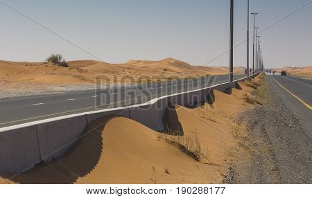 The Arabian desert on a hot sunny day stock photo