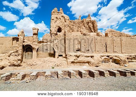 in iran old door near the castle brick and antique construction stock photo