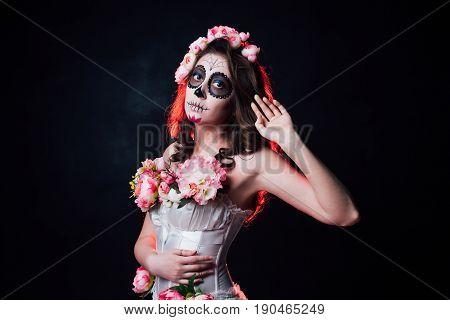 Halloween Makeup Woman Of Santa Muerte