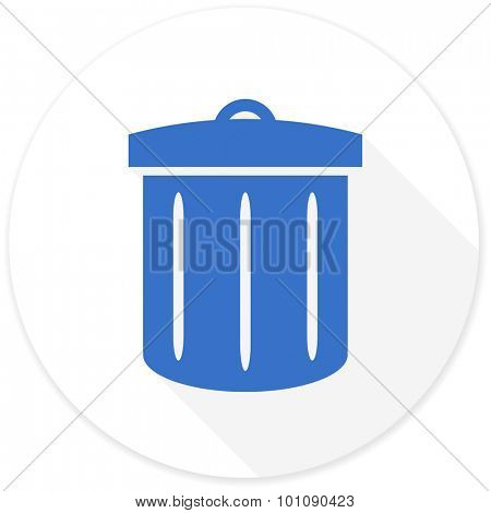 recycle flat design modern icon with long shadow for web and mobile app stock photo