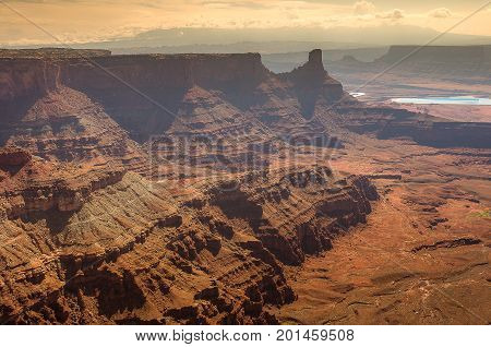 Landscape of Canyonland National Park in summer stock photo