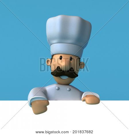 Fun chef - 3D Illustration stock photo