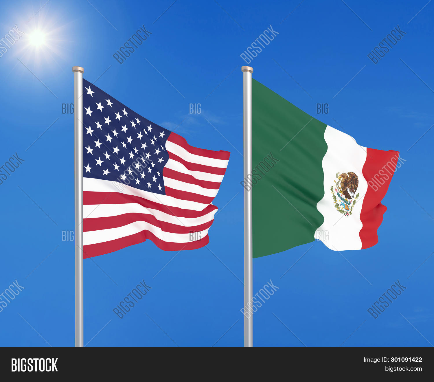 3d,Mexico,america,american,background,celebrate,celebration,combat,combination,communication,competition,concept,conference,conflict,country,dialog,disagreement,economy,flag,illustration,nation,national,patriotic,patriotism,peace,relations,sanctions,sign,sky,soccer,sport,states,summit,symbol,team,together,trade,two,union,united,usa,veterans,vs,war,wave,waving
