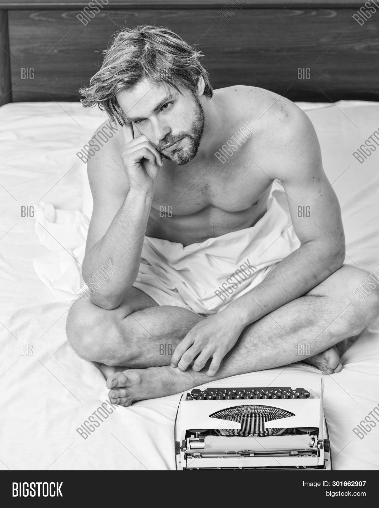 adult,attractive,author,awake,bearded,bed,bedclothes,bedroom,caucasian,chapter,concept,create,creativity,crisis,daily,digital,enjoy,feel,fresh,handsome,hipster,idea,inspiration,lack,leisure,looking,machine,man,manual,morning,need,novelist,relax,retro,routine,script,sheets,sleepy,typewriter,vintage,weekend,while,work,working,write,writer