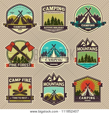 Camp vector label