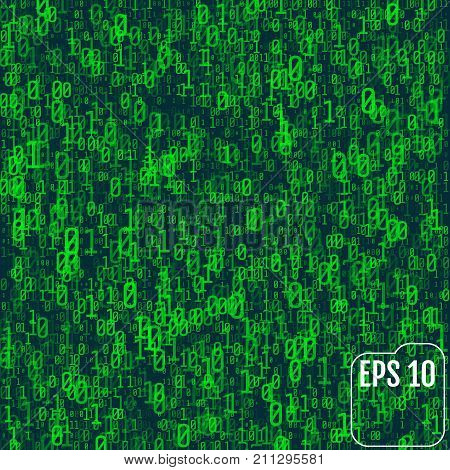 Flash in the matrix. The concept of coding and hacking. Vector illustration stock photo