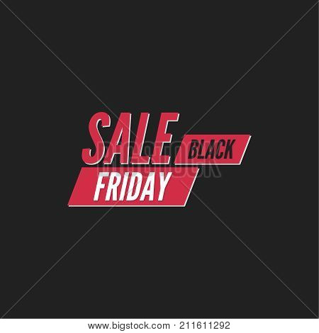 Black Friday  final, big sale. Total discounts. Markdown cheap. Template for Banner or poster, pricetag, tag. Black Friday sale inscription design. Vector illustration stock photo