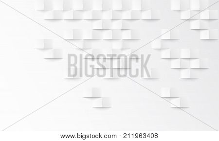 Abstract White Background With Brick Shadow Vector Texture Backdrop Interior Design