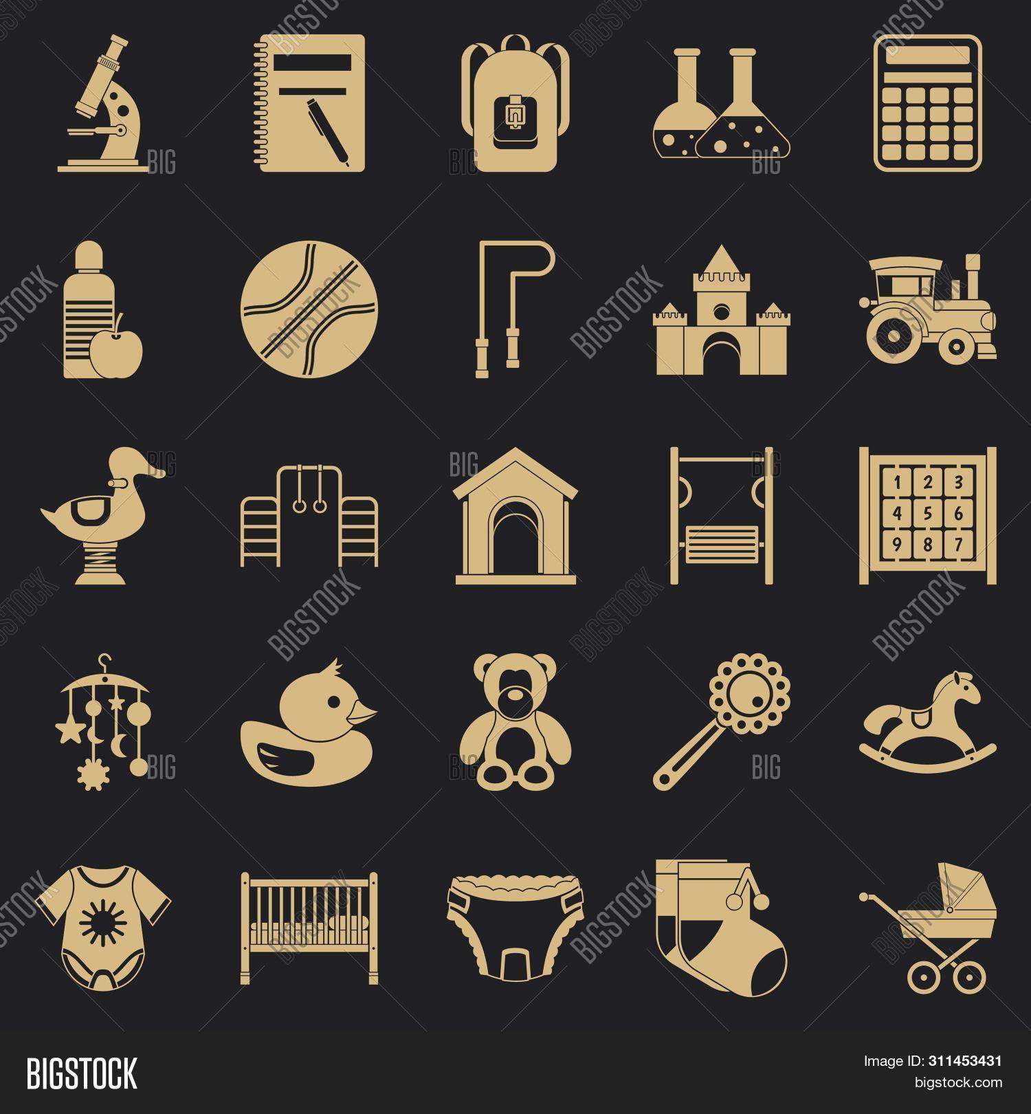 Scholar Icons Set. Simple Set Of 25 Scholar Icons For Web For Any Design