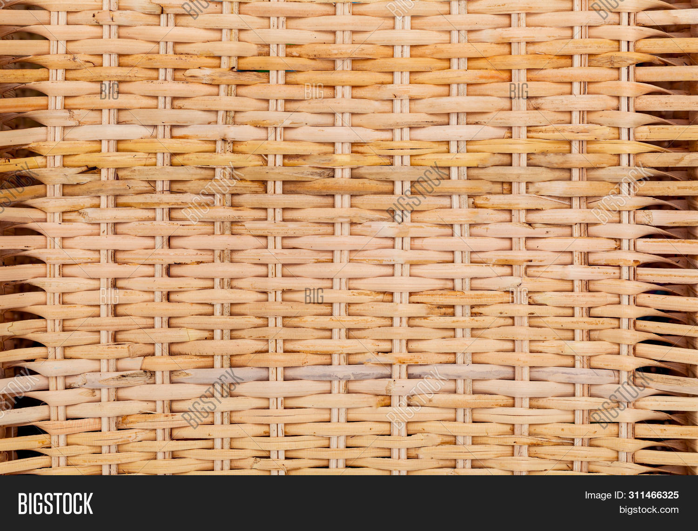 Rattan  Natural Texture Handcraft. Detail Handcraft. Macro