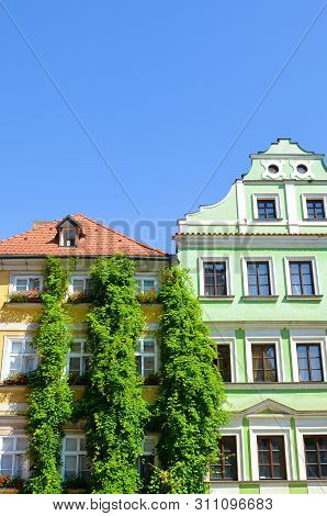 Traditional old houses with colorful facades in the historical center of Prague, Czech Republic. Czech capital. Mala Strana, Lesser Town of Prague, Hradcany. Tourist destination. Czechia stock photo