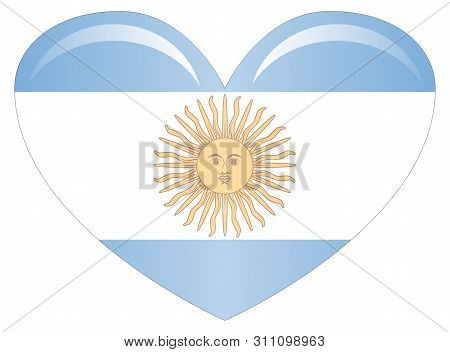 original and simple Argentina flag isolated in official colors and Proportion Correctly. stock photo