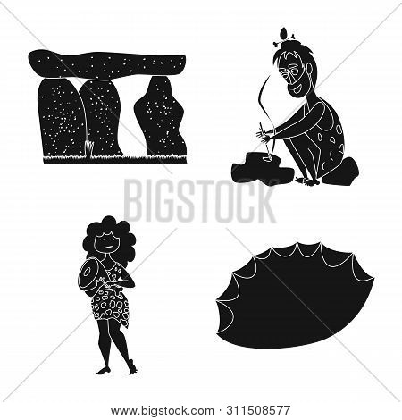 Vector design of sapiens and development sign. Set of sapiens and age vector icon for stock. stock photo