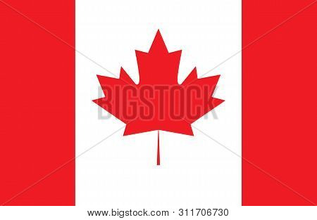 Canada flag, official colors and proportion correctly. National Canada flag. Vector illustration. EPS10. stock photo