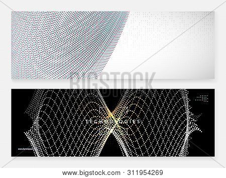 Quantum innovation computer. Digital technology. Artificial intelligence, deep learning and big data concept. Tech visual for cloud template. Futuristic quantum innovation computer backdrop. stock photo