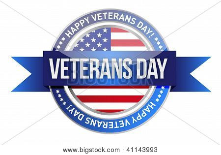 Veterans Day. Us Seal And Banner