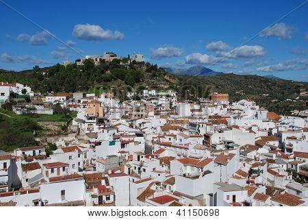 White village, Monda, Andalusia, Spain.