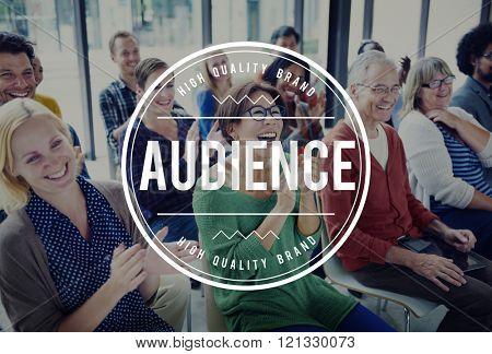 Audience Crowd Clientele Turnout Concept stock photo