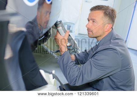 technician stock photo