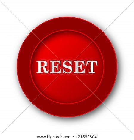 Reset icon. Internet button on white background. stock photo