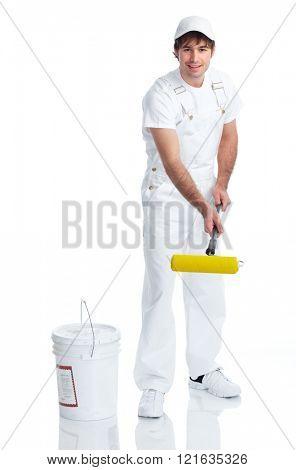Painter man. stock photo